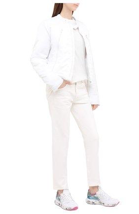 Женские комбинированные кроссовки zaczac-d PREMIATA белого цвета, арт. ZAC-ZACD/VAR4881 | Фото 2