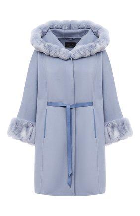 Женское кашемировое пальто LORO PIANA голубого цвета, арт. FAG4621 | Фото 1
