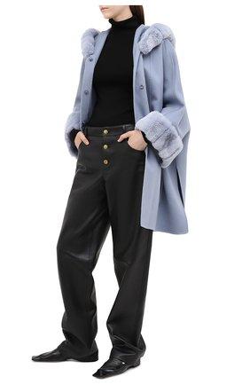 Женское кашемировое пальто LORO PIANA голубого цвета, арт. FAG4621 | Фото 2