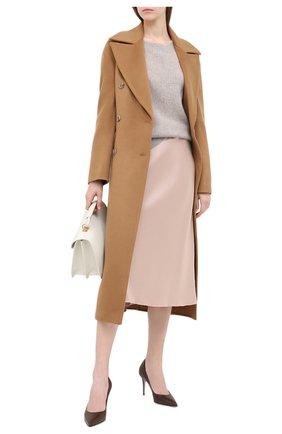 Женская кожаные туфли на шпильке LE SILLA темно-коричневого цвета, арт. 2101M080R1PPMIN | Фото 2