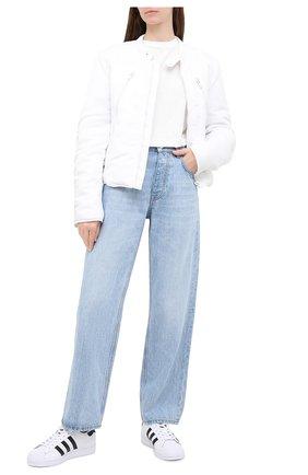 Женские кожаные кеды superstar ADIDAS ORIGINALS черно-белого цвета, арт. FV3284 | Фото 2