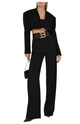 Женский жакет BALMAIN черного цвета, арт. UF17039/X401 | Фото 2