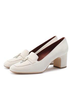 Женская замшевые туфли summer charms LORO PIANA кремвого цвета, арт. FAI7081 | Фото 1