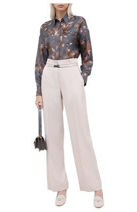 Женская замшевые туфли summer charms LORO PIANA кремвого цвета, арт. FAI7081 | Фото 2