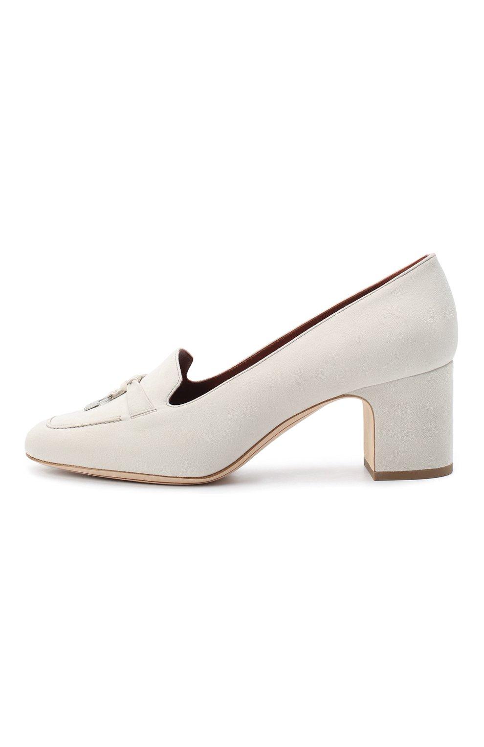 Женские замшевые туфли summer charms LORO PIANA кремвого цвета, арт. FAI7081 | Фото 3