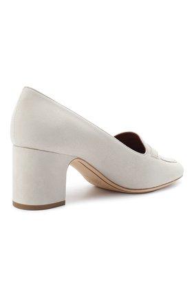 Женские замшевые туфли summer charms LORO PIANA кремвого цвета, арт. FAI7081 | Фото 4