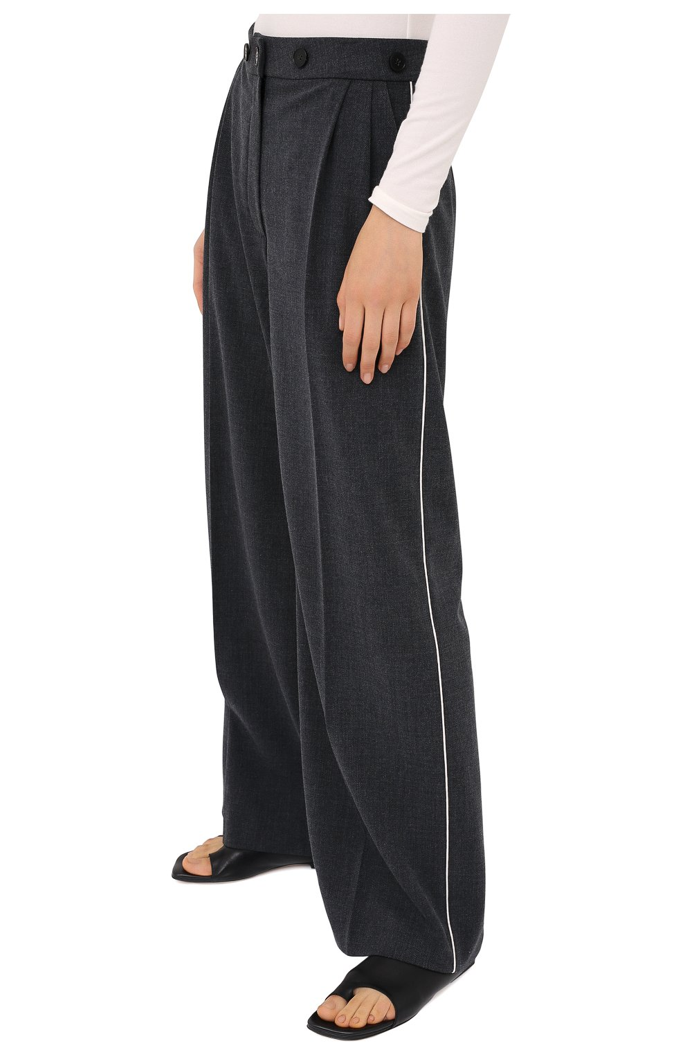 Женские брюки RUBAN серого цвета, арт. RPW20/21-7.1.45.4 | Фото 3