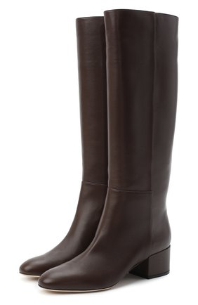 Женские кожаные сапоги virginia SERGIO ROSSI коричневого цвета, арт. A78340-MNAN07 | Фото 1