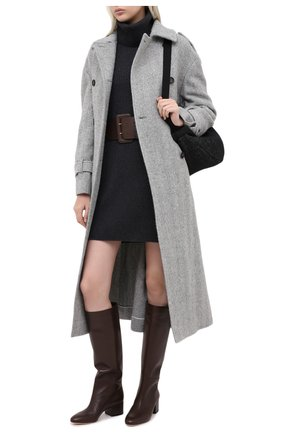 Женские кожаные сапоги virginia SERGIO ROSSI коричневого цвета, арт. A78340-MNAN07 | Фото 2