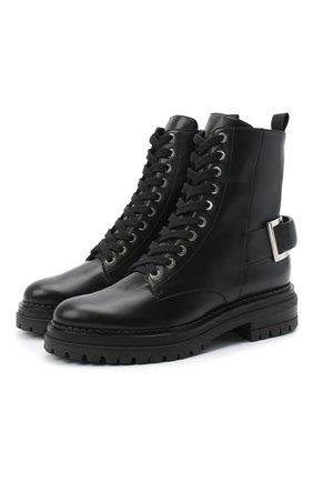 Женские кожаные ботинки SERGIO ROSSI черного цвета, арт. A88890-MNAN07 | Фото 1