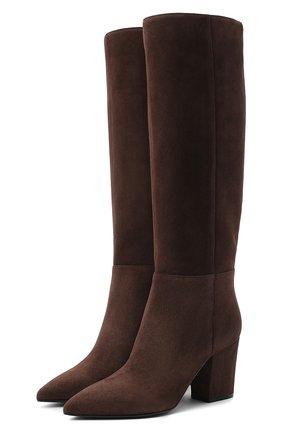 Женские замшевые сапоги SERGIO ROSSI коричневого цвета, арт. A85411-MCAZ01 | Фото 1