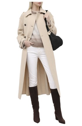Женские замшевые сапоги SERGIO ROSSI коричневого цвета, арт. A85411-MCAZ01 | Фото 2