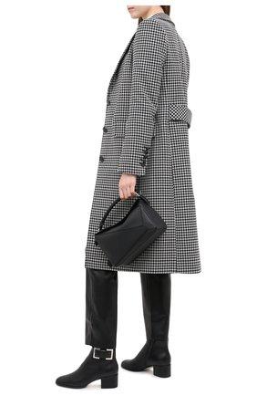 Женские кожаные ботильоны SERGIO ROSSI черного цвета, арт. A91860-MNAN07 | Фото 2