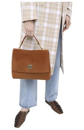 Женская сумка liya medium COCCINELLE коричневого цвета, арт. E1 GD1 18 01 01 | Фото 2