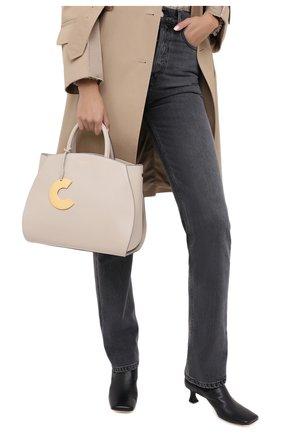 Женская сумка concrete medium COCCINELLE бежевого цвета, арт. E1 GLA 18 01 01 | Фото 2