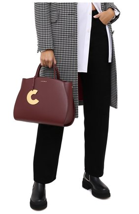 Женская сумка concrete medium COCCINELLE бордового цвета, арт. E1 GLA 18 01 01 | Фото 2