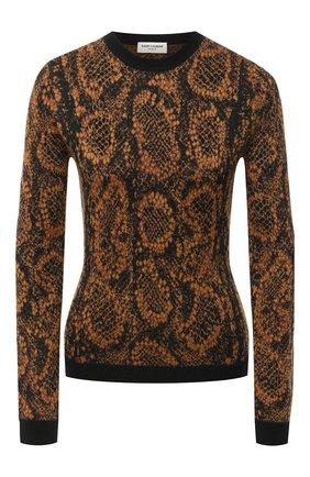 Женская пуловер SAINT LAURENT коричневого цвета, арт. 631047/YASE2 | Фото 1