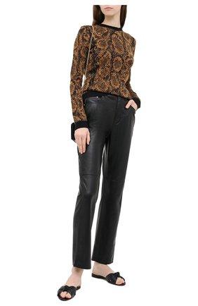 Женская пуловер SAINT LAURENT коричневого цвета, арт. 631047/YASE2 | Фото 2