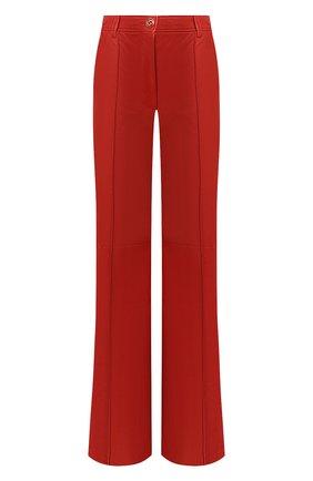 Женские кожаные брюки GUCCI красного цвета, арт. 629532/XN336 | Фото 1