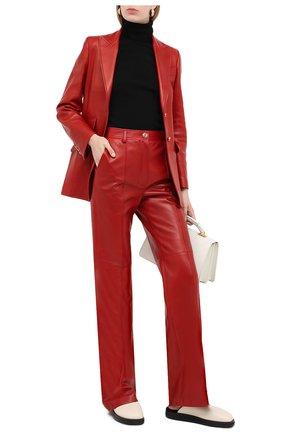Женские кожаные брюки GUCCI красного цвета, арт. 629532/XN336 | Фото 2