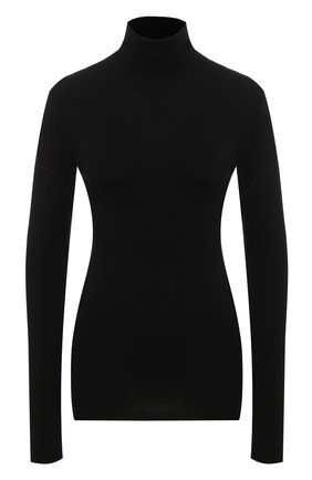 Женская водолазка из хлопка и шерсти GUCCI черного цвета, арт. 628171/XKBC0 | Фото 1