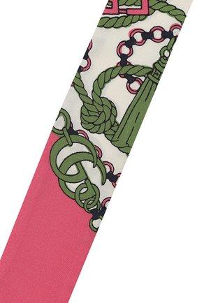 Мужские шелковый шарф GUCCI розового цвета, арт. 627814/3G001 | Фото 2