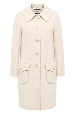 Женское шерстяное пальто GUCCI белого цвета, арт. 626300/ZHW03 | Фото 1
