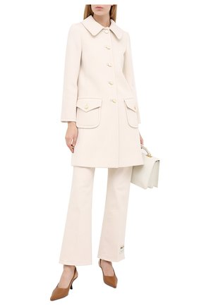 Женское шерстяное пальто GUCCI белого цвета, арт. 626300/ZHW03 | Фото 2