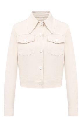 Женская джинсовая куртка GUCCI белого цвета, арт. 625043/XDA9V   Фото 1