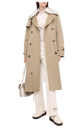 Женская джинсовая куртка GUCCI белого цвета, арт. 625043/XDA9V   Фото 2