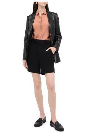Женские шорты из вискозы GUCCI черного цвета, арт. 619500/ZKR01 | Фото 2
