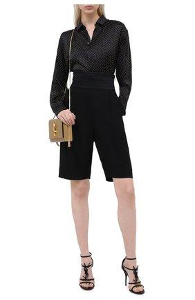 Женские кожаные босоножки cassandra SAINT LAURENT черного цвета, арт. 630109/0NPVV | Фото 2