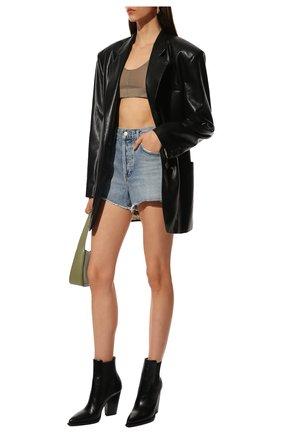 Женские кожаные ботильоны theo SAINT LAURENT черного цвета, арт. 636146/0RT00 | Фото 2