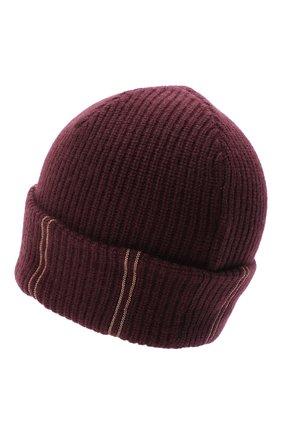 Женская кашемировая шапка BRUNELLO CUCINELLI бордового цвета, арт. M12717789 | Фото 2