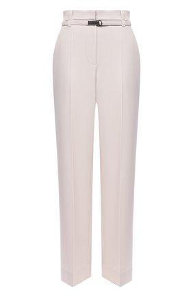 Женские шерстяные брюки BRUNELLO CUCINELLI белого цвета, арт. MA181P7332 | Фото 1