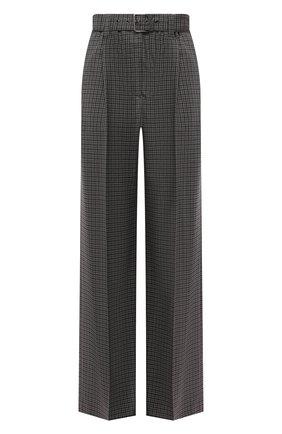 Женские шерстяные брюки BRUNELLO CUCINELLI темно-серого цвета, арт. MP197P7404   Фото 1