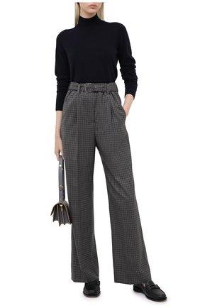 Женские шерстяные брюки BRUNELLO CUCINELLI темно-серого цвета, арт. MP197P7404   Фото 2