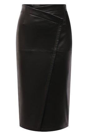 Женская кожаная юбка TOM FORD черного цвета, арт. GCL807-LEX228 | Фото 1