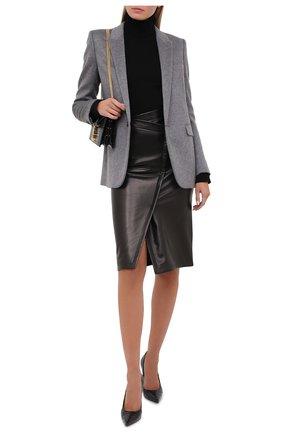 Женская кожаная юбка TOM FORD черного цвета, арт. GCL807-LEX228 | Фото 2