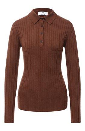 Женский кашемировый пуловер ALLUDE коричневого цвета, арт. 205/11133 | Фото 1