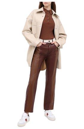 Женский кашемировый пуловер ALLUDE коричневого цвета, арт. 205/11133 | Фото 2