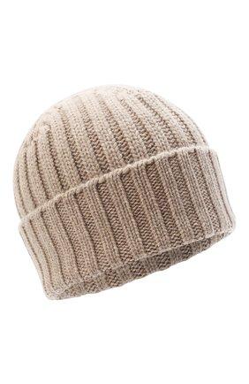 Женский кашемировая шапка ALLUDE бежевого цвета, арт. 205/60050 | Фото 1