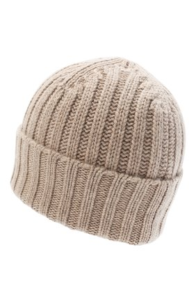 Женский кашемировая шапка ALLUDE бежевого цвета, арт. 205/60050 | Фото 2