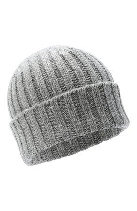Женский кашемировая шапка ALLUDE серого цвета, арт. 205/60050 | Фото 1