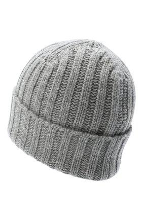 Женский кашемировая шапка ALLUDE серого цвета, арт. 205/60050 | Фото 2