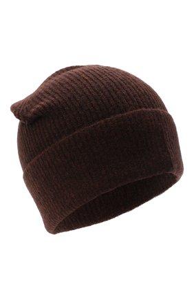 Женская шапка ALLUDE темно-коричневого цвета, арт. 205/65030 | Фото 1