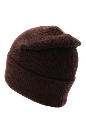 Женская шапка ALLUDE темно-коричневого цвета, арт. 205/65030 | Фото 2
