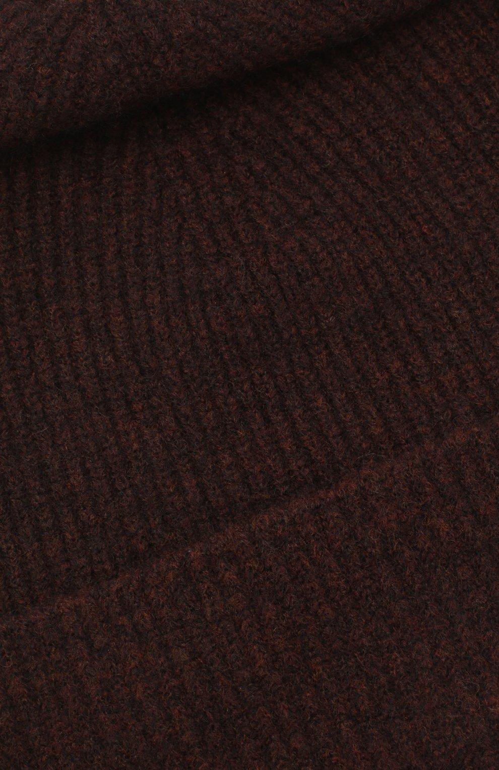 Женская шапка ALLUDE темно-коричневого цвета, арт. 205/65030   Фото 3 (Материал: Текстиль, Шерсть)