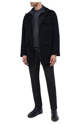 Мужская кашемировая куртка GIORGIO ARMANI темно-синего цвета, арт. 0WG0C04B/T00J0 | Фото 2