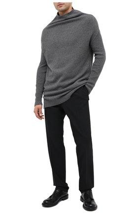 Мужской кожаные дерби MOMA черного цвета, арт. 2AW151-BT | Фото 2